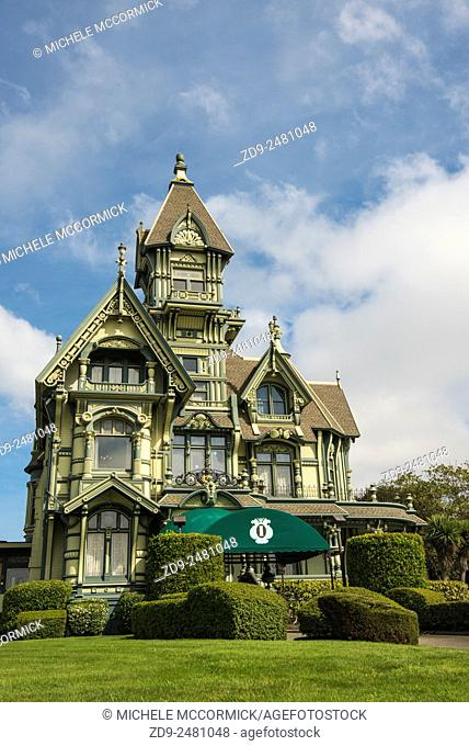 Eureka's famous Carson Mansion is now owned by a private club