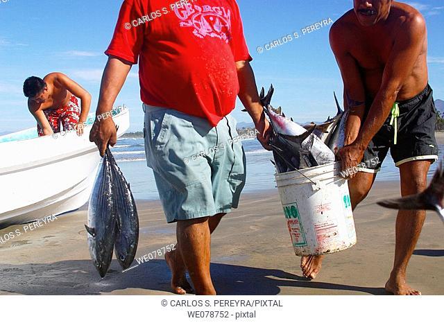 Fishermen, Troncones, Guerrero, Mexico
