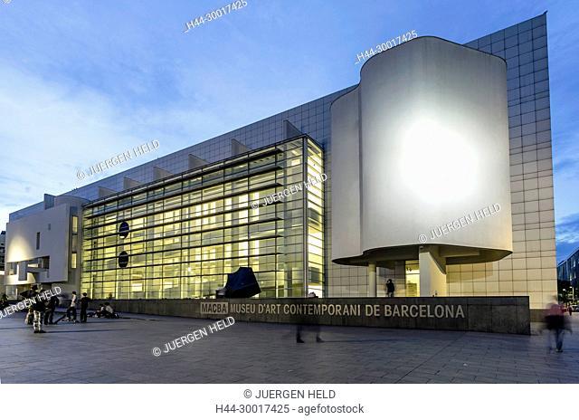 Spain, Catalonia, Catalunya, Barcelona, Raval, MACBA, Museum of Mordern Art , Architect Richard Meier, Square of Angels