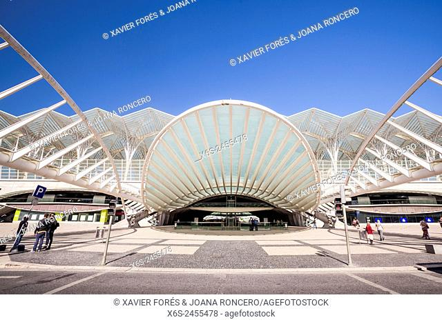 Gare do Oriente in Parque das Nações - Oriente station in Park of the Nations - from Santiago Calatrava architect, Lisboa, Portugal