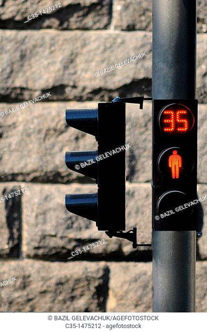 Traffic light kiev, Ukraine
