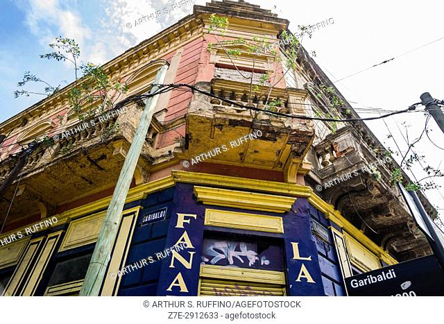 La Boca's colorful architecture and art. Buenos Aires, Argentina, South America