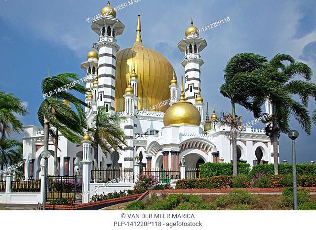 Ubudiah Mosque / Masjid Ubudiah with golden dome in Kuala Kangsar, Perak, Malaysia