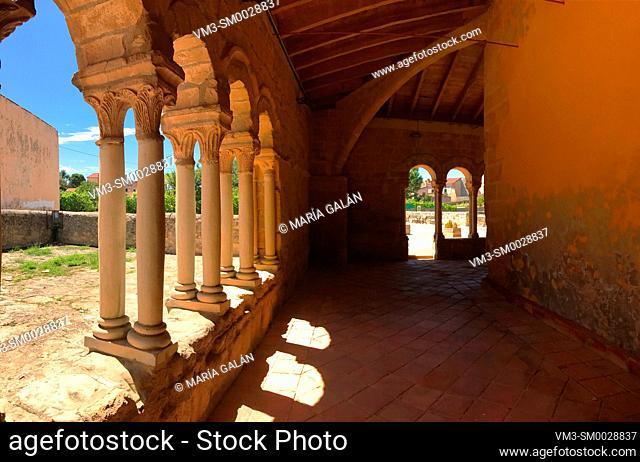 Atrium of Nuestra Señora de la Asuncion church. Sauca, Guadalajara province, Castilla La Mancha, Spain