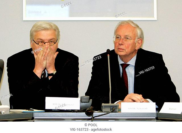 Kidnapping of CRYOTEC staff in the Iraq: Frank Walter STEINMEIER (SPD), federam foreign minister, together with Klaus SCHARIOTH