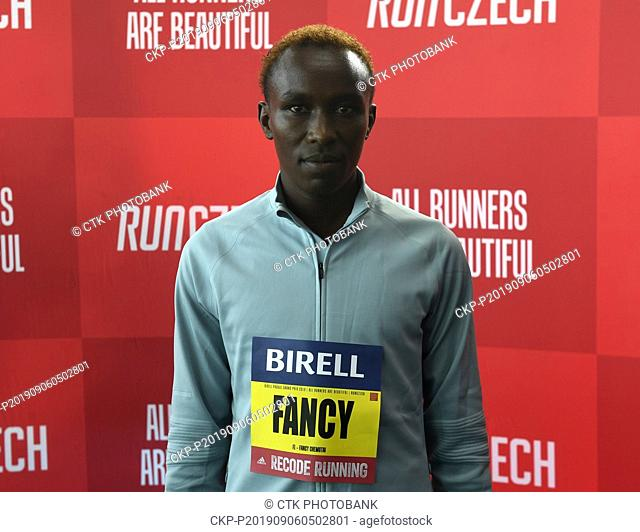 Kenyan athletic runner Fancy Chemutai attends a news conference prior to the Birell Prague Grand Prix 2019, in Prague, Czech Republic, on September 6, 2019