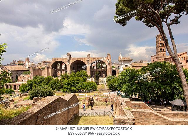 Basilica of Maxentius and Constantine is an ancient building in the Roman Forum, Rome, Italy