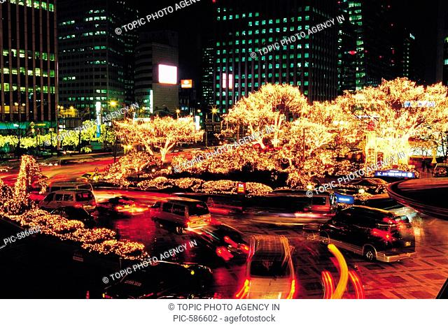 Christmas Decorations,Seoul,Korea, Stock Photo, Picture And Rights Managed Image. Pic. PIC-586602 | age fotostock