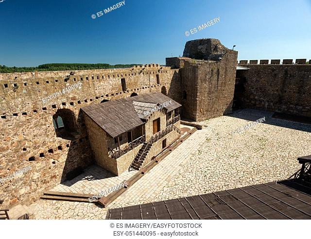 Citadel of the Despot Djuradj in Smederevo Fortress, one of the largest fortifications in Serbia