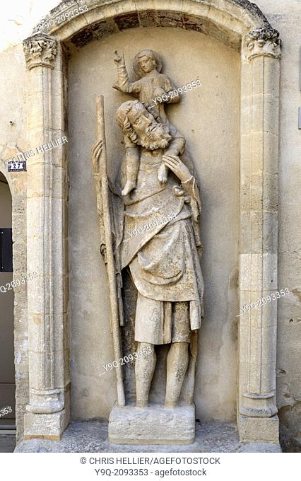 Medieval Saint Christopher Statue (c14th) Boulbon Provence France
