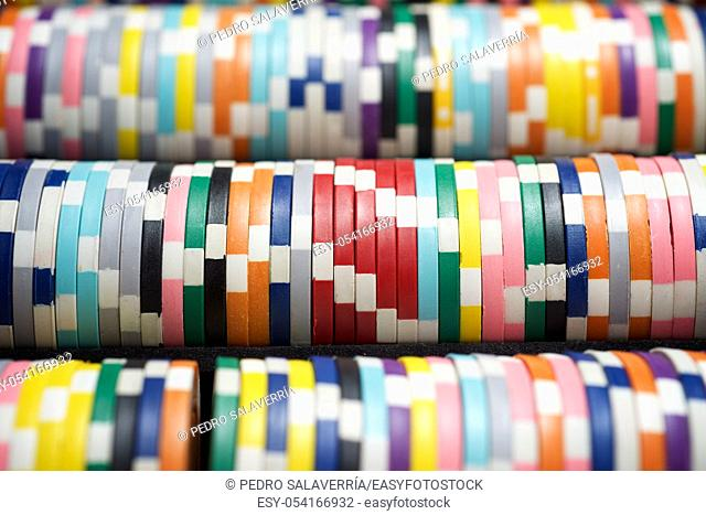 Background created with casino chips