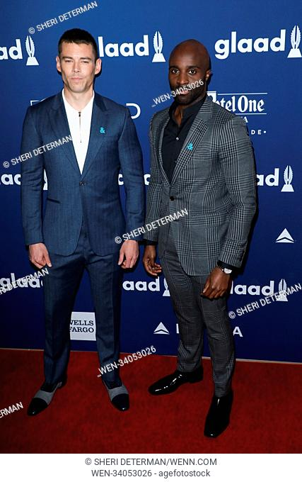 29th Annual GLAAD Media Awards at the Beverly Hilton Hotel in Beverly Hills, California. Featuring: Brian J. Smith, Toby Onwumere Where: Beverly Hills