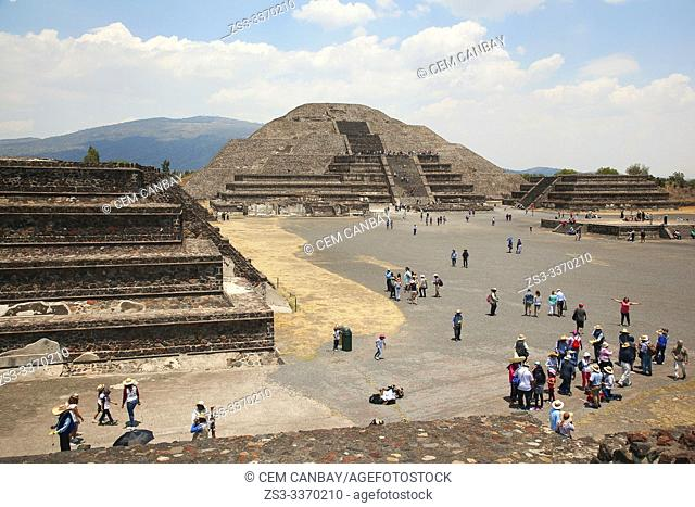 View to the Pyramid Of The Moon- Piramide de la Luna in Teotihuacan Archaeological Site, Mexico City, Mexico, Central America