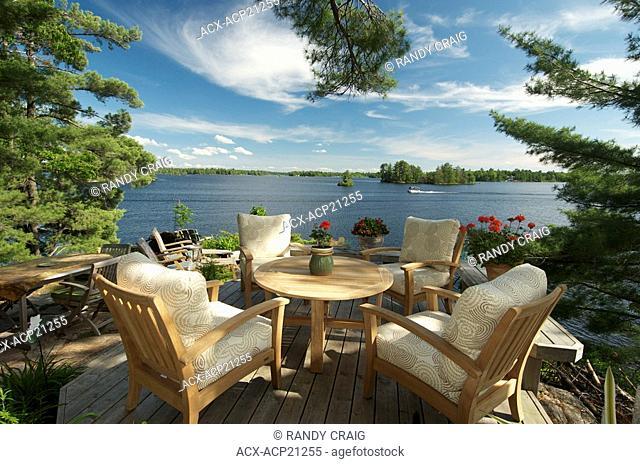 Dining Table, Lounge, Kahshe Lake, Muskoka, Ontario