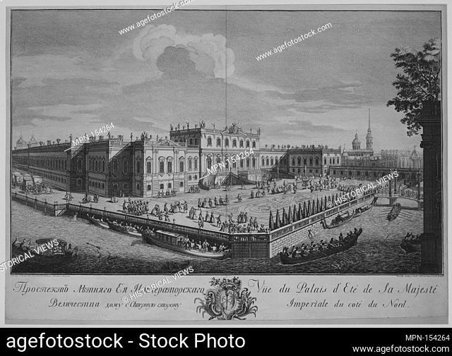 View of the Summer Palace. Artist: Giuseppe Valeriani (Italian, Rome 1708-1762 Saint Petersburg); Artist: Alekcei Grekov (Russian