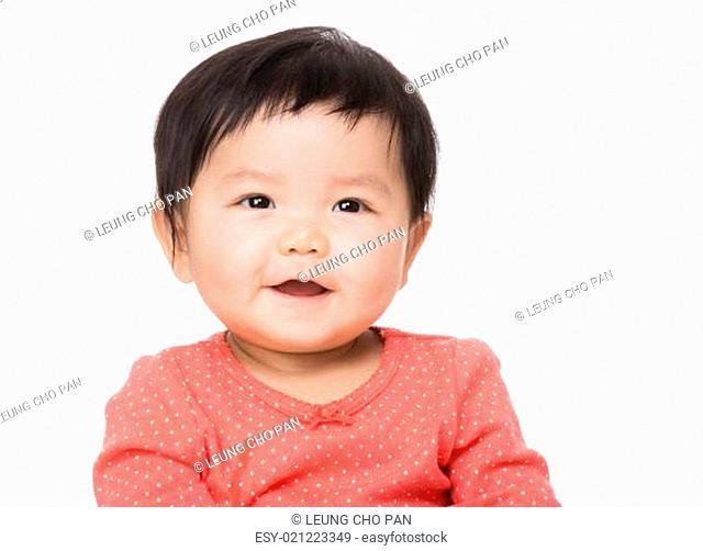 Asia baby girl smile