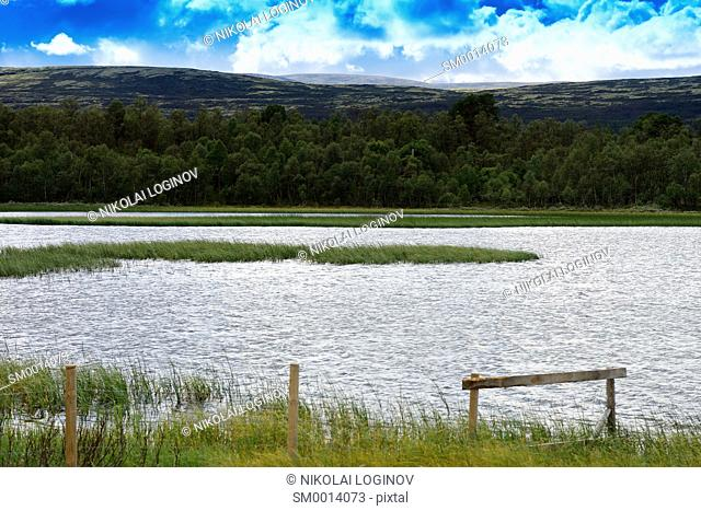 Entering clean ecologic territory landscape background hd