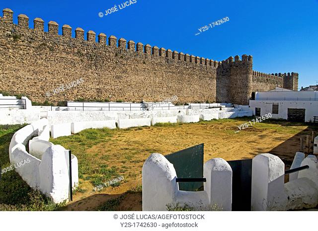 Bullring and Castle of Sancho IV, Cumbres Mayores, Huelva-province, Spain