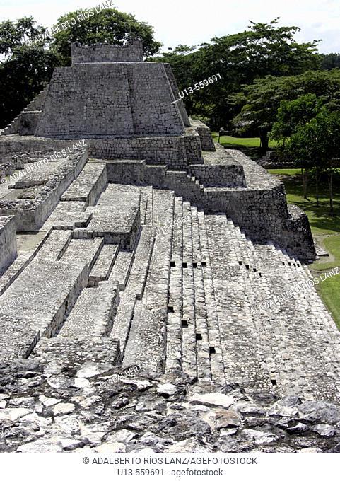Maya ruins of Edzna. Mexico