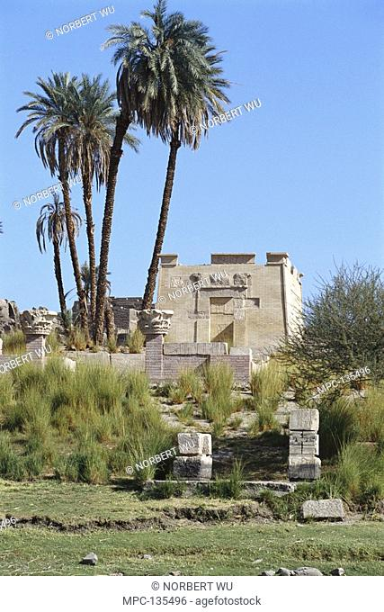 Ancient ruins at Elephantine Island, Aswan, Egypt