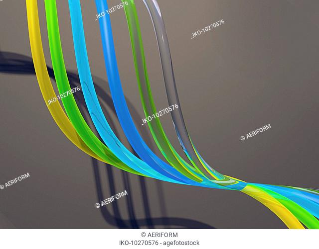 Flowing translucent tubes