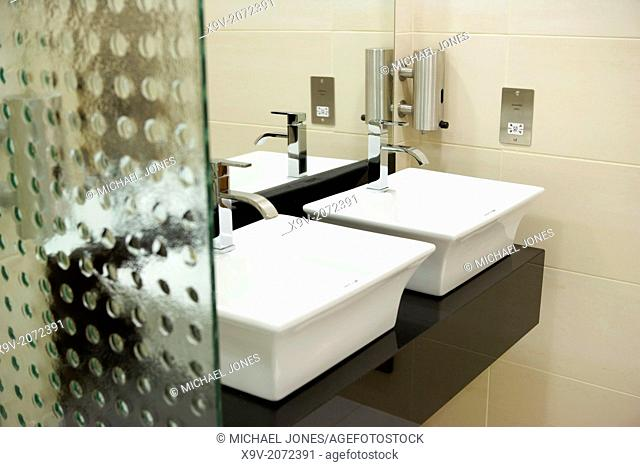 Office interior toilet sink