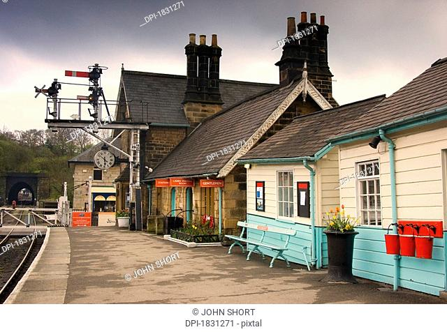 Grosmont Station, North Yorkshire, England