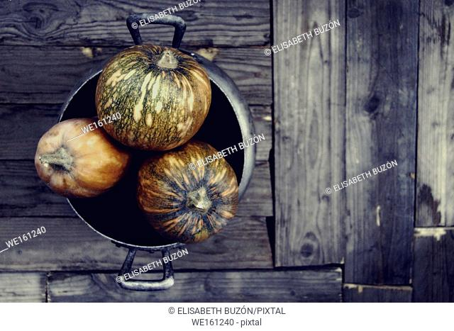 Image on a pumpkin