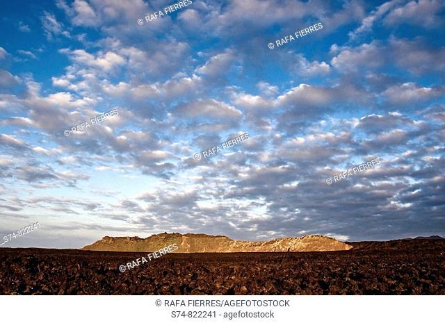 Volcanic landscape at Timanfaya