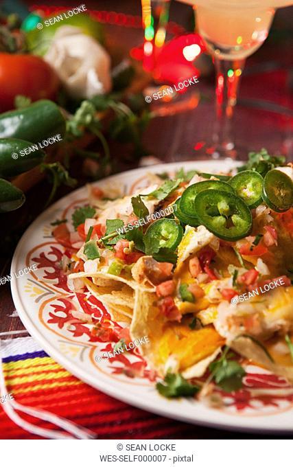 Cheesy chicken nachos, Party food for Cinco de Mayo
