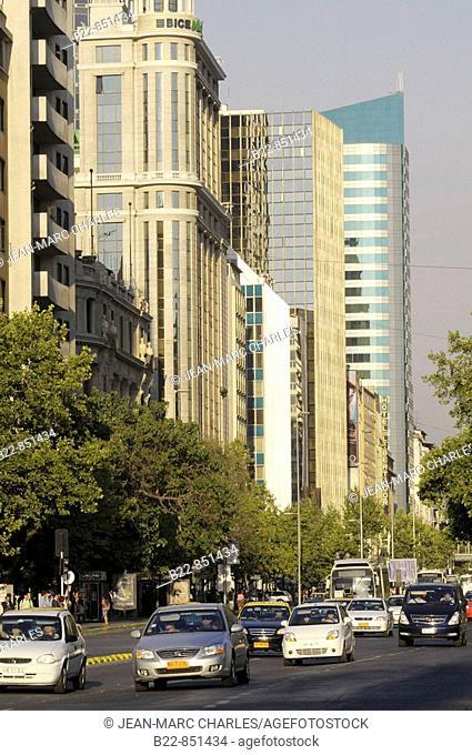 Avenida Libertador General Bernardo O'Higgins, popularly known as La Alameda, Santiago de Chile, Chile