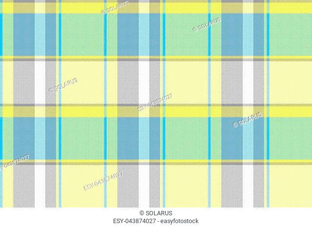 Abstract lite color check pixel plaid seamless pattern. Vector illustration