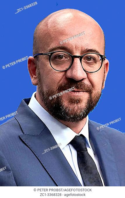 Charles Michel *21. 12. 1975 - Belgian politician of the liberal party Mouvement Reformateur MR and 51st Prime Minister of Belgium