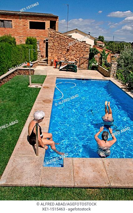 Pool, Bages, Catalonia, Spain