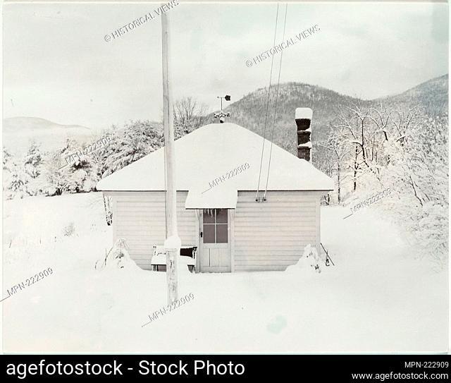 First Snow and the Little House - 1923 - Alfred Stieglitz American, 1864-1946 - Artist: Alfred Stieglitz, Origin: United States, Date: 1923