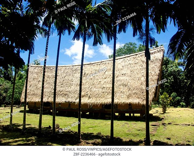 A traditional men's ceremonial hut, Palau, Feerated States of Micronesia