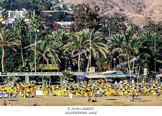 spain - canary islands, gran canaria, puerto rico beach