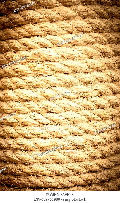 The detail of rope texture vignetting background