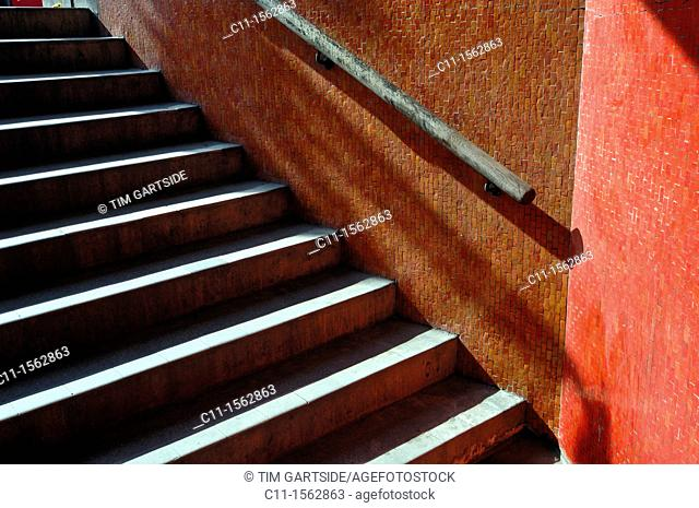 stairs to underground,London, England,UK