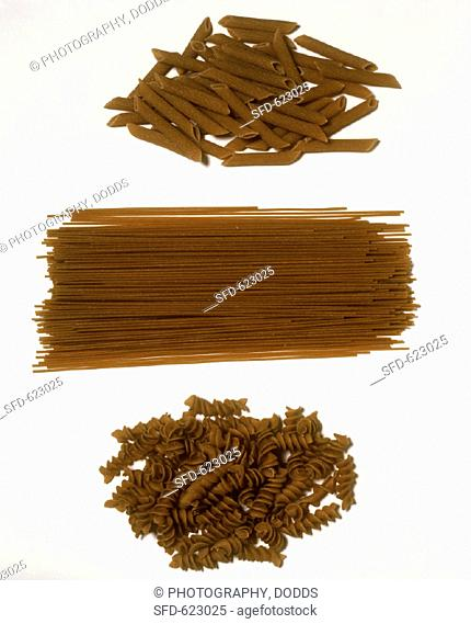 Assorted Types of Whole Wheat Pasta