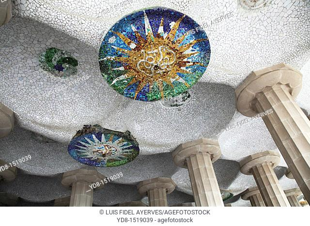Guell Park, by Antoni Gaudi, Barcelona, Spain