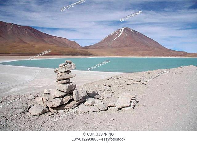 Laguna Verde and Volcano in Bolivia