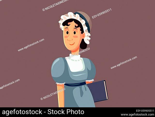 Portrait of a famous 19th century British female author
