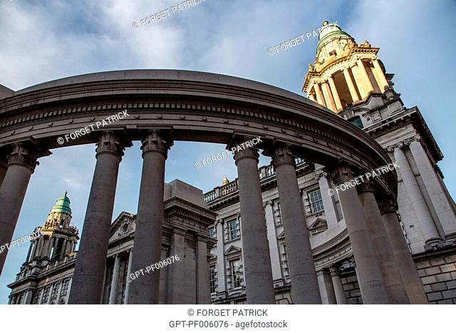 BELFAST CITY HALL, BEDFORD STREET AND DONEGALL SQUARE SOUTH, BELFAST, ULSTER, NORTHERN IRELAND