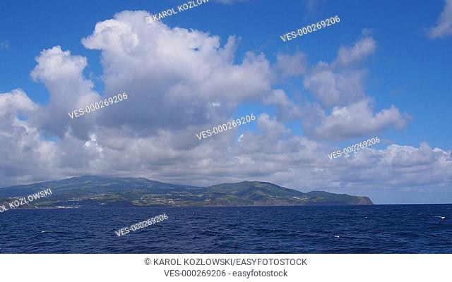 Faial Island – view from the ferry, Azores, Portugal