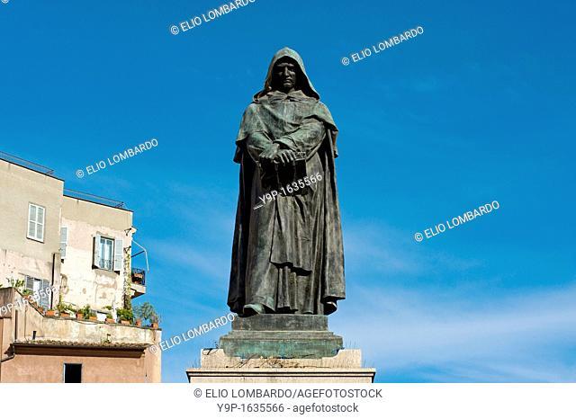 Giordano Bruno monument, Campo de' Fiori Square, Rome, Lazio, Italy