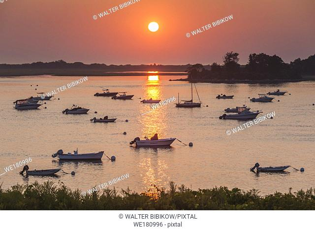 USA, New England, Massachusetts, Ipswich, sunrise over Great Neck