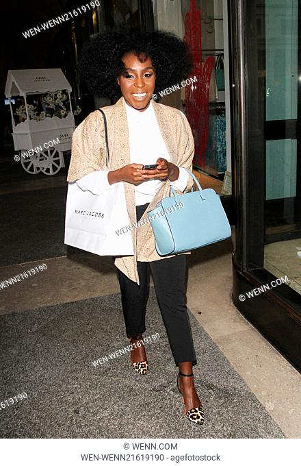 The Daisy Marc Jacobs Tweet Shop pop-up store launch party in Covent Garden Featuring: Laura Mvula Where: London, United Kingdom When: 14 Aug 2014 Credit: WENN