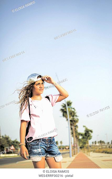 Girl looking at distance