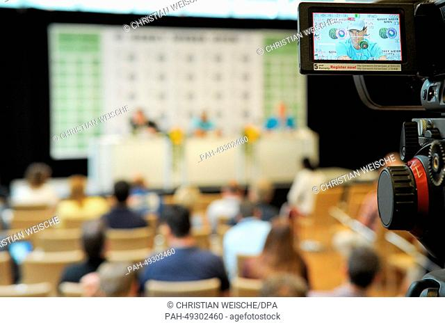 Rafael Nadal of Spain speaks during a press conference at the ATP tennis tournament in Halle (Westphalia), Germany, 11 June 2014